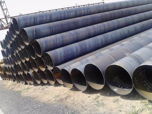 China Spiral Welded Large Diameter Steel Pipe / Round Steel Tubing Used For Construction on sale