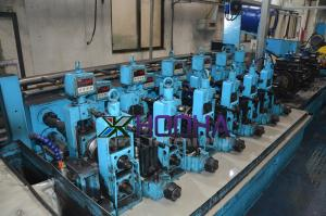 China Straight Seam Steel Welding Pipe Mill Production Line Speed 15-30m / Min on sale