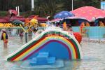 Petite glissière de pont en arc-en-ciel, glissière de parc aquatique d'enfants de petit Waterpark pour des enfants