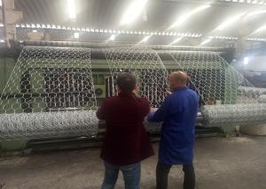 China Industrial Gabion Mesh Machine 80x100mm 100x120mm Mesh Opening For Protecting Dam on sale