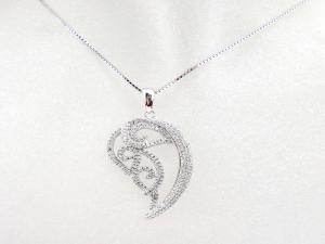 China 925 Solid Silver Rhodium Jewelry Micro Pave Setting White CZ Pendant Price: on sale