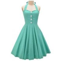 Optionals Color Women Casual Dresses Vintage Polka Dots Summer Sundress