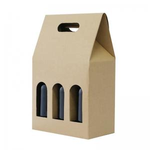 China Recyclable Craft Box Takeaway Wine Paper Box Paper Packaging Box on sale