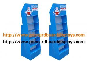 China Blue 5 Layer Green Tea or Black tea Cardboard Floor Displays For Retail Store on sale