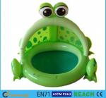 Frog Shaped OEM Blow Up Kiddie Pool High Safety For Ages 6 Months - 36 Months