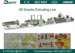 China Automatic 3d& 2d Snack Crispy Chips/screw/shell/extruded Pellet Machine/fried Pellets Extruder Machine on sale