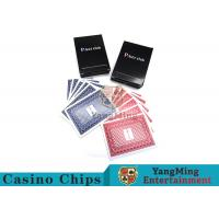 China 143g Casino Playing Cards / Waterproof Playing Cards With Black Core Paper on sale