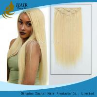 Real Hair Remy Clip In Hair Extensions Double Drawn Silky Straight Style