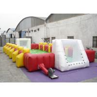 Commercial Large Inflatable Football Games Enviroment - Friendly PVC inflatable football field game for adult