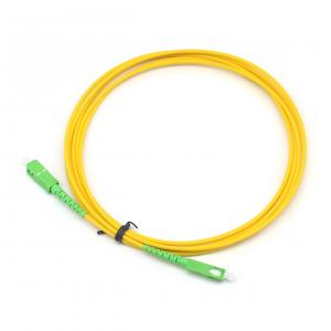 China SC APC Duplex Single Mode Or Multi Mold Optical Fiber Patch Cord 9/125 50/125 62.5/125 on sale