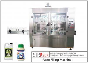 China Dust - Proof Auto Paste Filling Machine For Organic Liquid / Bio Fertilizer on sale
