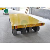 China Industrial Material Handling Trackless Transfer Trailer Non Motor Transfer Cart With Draw Bar on sale