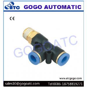 China connecteur 4mm de tuyau de manière du côté 3 de fil de trois-joint 1/8 pièce en t de BSP adaptant la triangle du palladium 4-01 pour la soupape à air pneumatique on sale