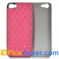 China Pink Rhinestone Case for iPhone 5 - Durable & Lightweight on sale