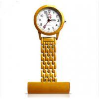 3ATM Waterproof  Stainless Steel Gold Nurse Fob Watch Quartz Movement For Men