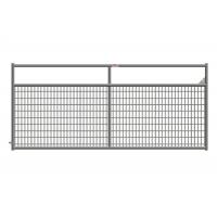 China Weather Resistant 10 Ft Metal Farm Gate , Wire Filled Steel Tube Farm Gates on sale