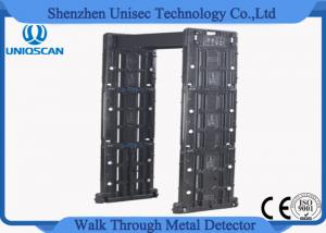 China Fordable Digital security Door Frame Metal Detector gate 255 adjustable sensibility level on sale