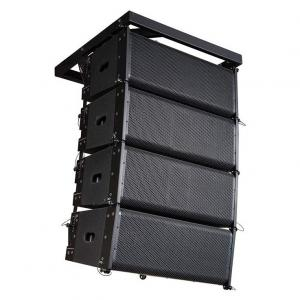 China Double 10 Inch Powered Speaker System Line Array With Class D Digital Amplifier on sale