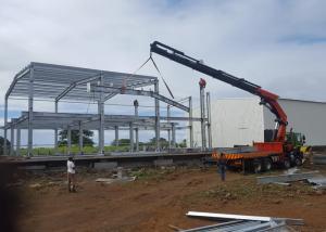 China Economical design big wind load indutry steel workshop building in Mauritius on sale