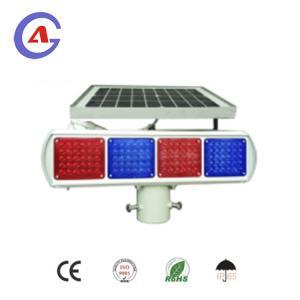 China Red and blue solar led traffic flashing light led strobe warning light on sale