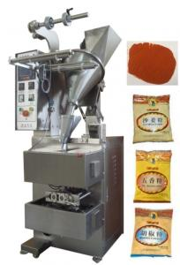China 10 - 200g 3 or 4 Side Pillow Bag Sealing Sachet Packing Machine For Hot Peper / Chilli Powder on sale