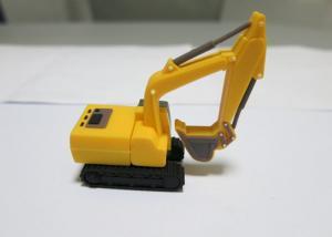 China Excavator Yellow Custom USB Memory Stick , Personalized Hi - Speed USB Flash Drive on sale