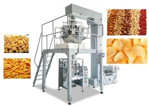 China Snacks Food Packaging Sealing Machine , Vertical Form Fill Seal Packaging Machines on sale