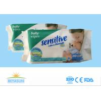 Organic Baby Disposable Wet Wipes Non - Irritating For Cleaning , Logo Custom