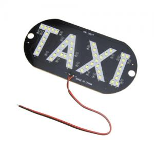 China SMD 3528 LED Lighting PCB Board 5W 6000K For Vehicle Light Taxi Logo Sign Mark on sale