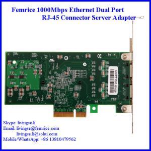 China Femrice 1000Mbps RJ-45 Connector Gigabit Ethernet Server Network Card 10002PT on sale
