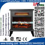 Freestanding Electric Fireplace SF-1323 infrared quartz fan heater burning log LED flame