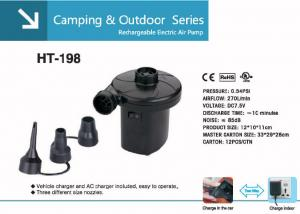 China HT-198 Rechargeable Electric Air Pump In Camping & outdoor on sale
