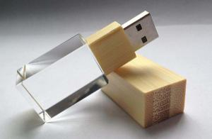 China Crystal Environmental Wooden usb flash drive on sale