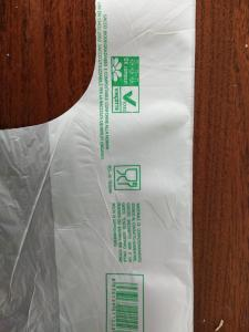 Quality EN13432 Biodegradable Plastic Shopping Bags 22 + 12 X 50 Cm For Vegetable / for sale