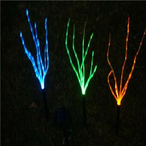 China Fiber Optic Colorful Changing LED Solar Power Solar Light Garden Outdoor Path Lamp Home Yard Garden Decoration on sale