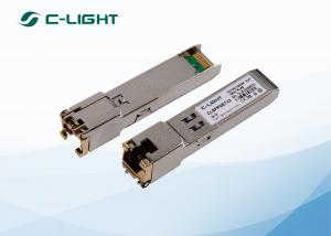 China RJ45 100m Copper SFP Transceiver , SFP Gigabit Ethernet Module on sale