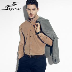 China Modern Mens Slim Fit Casual Shirts , Custom Mens Dress Shirts XS - 2XL Size on sale