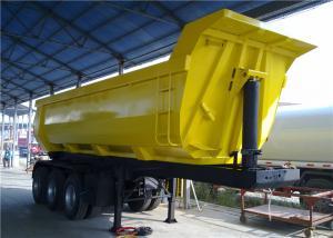 China 30CBM 3 Axle Heavy Duty Semi Trailers U Shape End Tipper Semi Trailer / Rear Dump Truck on sale