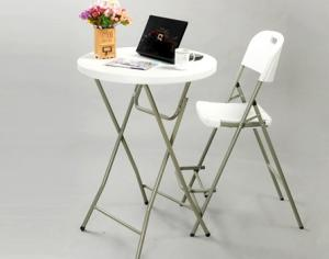 China 80cm plastic folding round bar table on sale