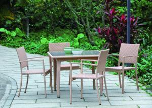 pink simple 4 seater garden set synthetic rattan garden furniture