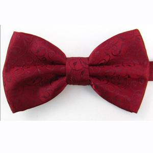 China Men's polyester jacquard bow-tie on sale