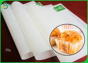 China 38GSM White Cupcake Liner Paper With Food Grade Certified For Baking on sale
