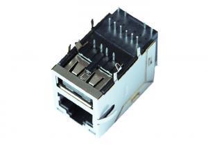 China 1-1840012-2 Gigabit RJ45 USB Connector Rj45 Stacked With USB LPJU3836AONL on sale