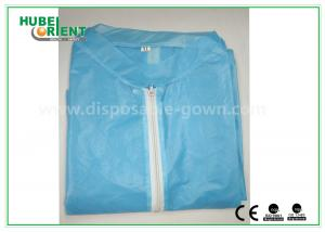 China Colored Zip medical lab coats for Workers , lightweight lab protective clothing on sale