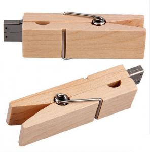 China Clip Secure  Kingston 128 Wooden USB Flash Drive ,    Wooden Pen Drive 60*26*10mm on sale