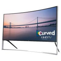 "the biggest 4K TV! samsung UHD 105S9 Series Curved Smart TV - 105"" Class (104.6"" Diag.)"