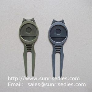 China Golfer Divot tools for repairing pitch mark, Wholesale Metal Golf Divot repair tools on sale