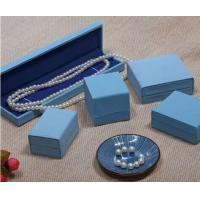 Stitch PU Leather Jewelry Plastic Box For Bangle Diamond Packaging