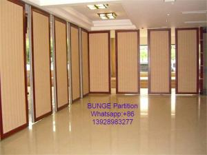 China MDF + Aluminum Office Partition Walls / Conference Room Sliding Folding Partition on sale