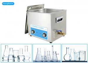 China Stainless Steel Tank Ultrasonic Bath Laboratory With Mechanical Heater 500W 30L on sale
